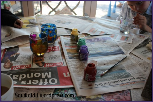 glass painting and candle making 1
