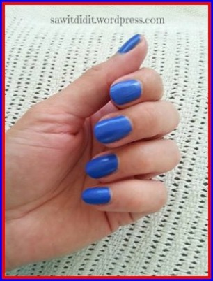 Australia Day mani base colour
