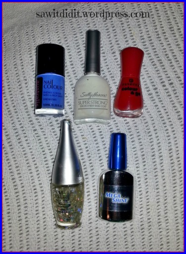 Australia Day mani colours