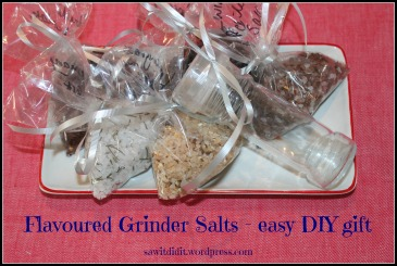 Easy flavoured grinder salts. sawitditit.wordpress.com