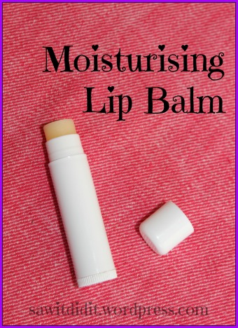 SawItDidIt.wordpress.com  Moisturising Lip Balm