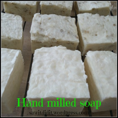 Aloe vera and oatmeal handmilled soap sawitdidit.wordpress.com
