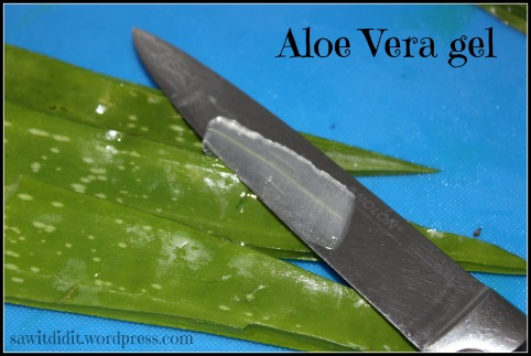 Aloe vera gel sawitdidit.wordpress.com