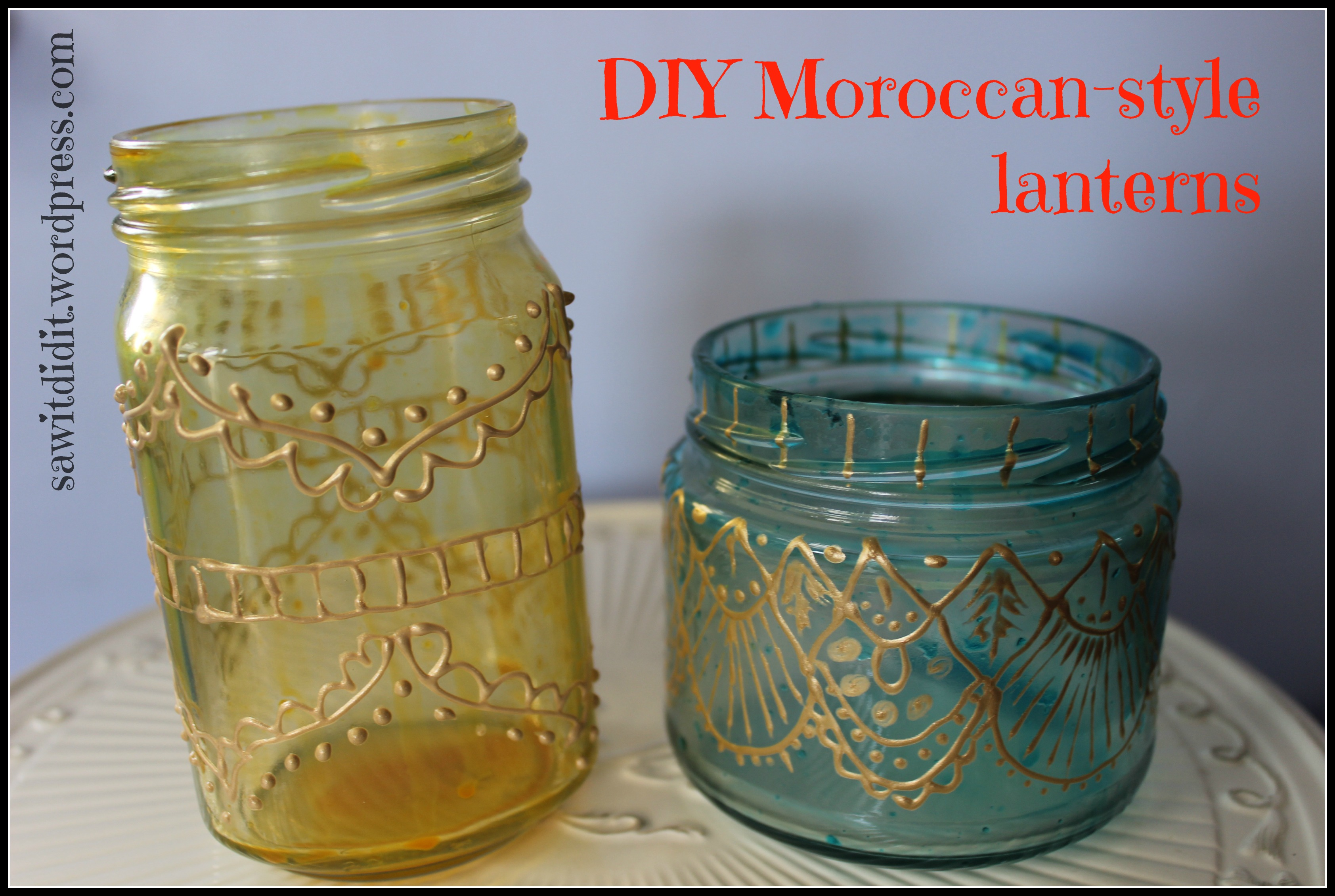 Diy Moroccan Lanterns Saw It Pinned It Did It