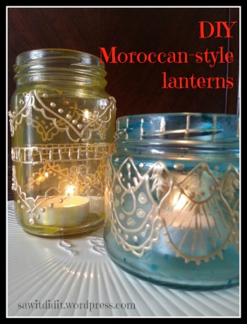 DIY Moroccan-style lanterns sawitdidit.wordpress.com