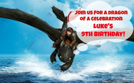 How to train your dragon invitation 1