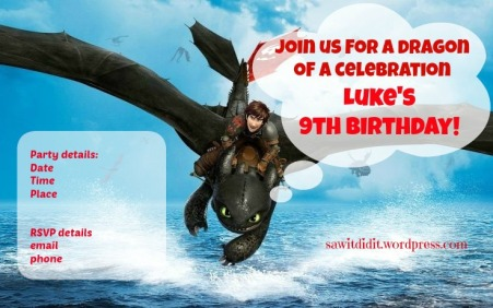 How to train your dragon invitation sawitdidit.wordpress