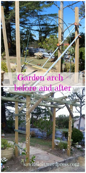 Garden arch before and after - sawitdidit.wordpress