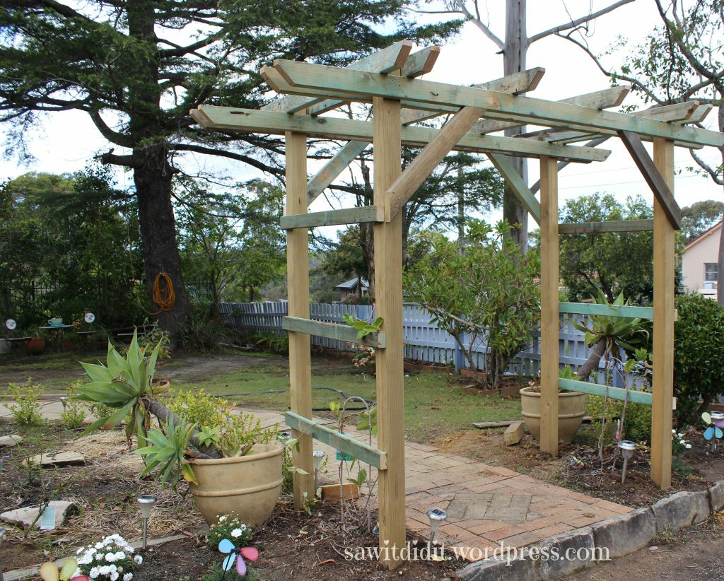 Recently We Replaced Our Flimsy Metal Garden Arch For A Homebuilt Timber  One. It Looks
