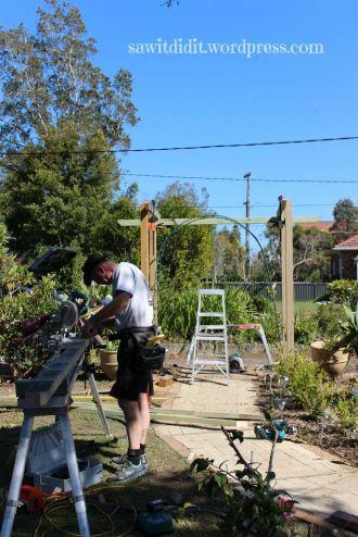 garden arch construction day 2