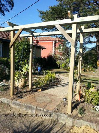 garden arch construction