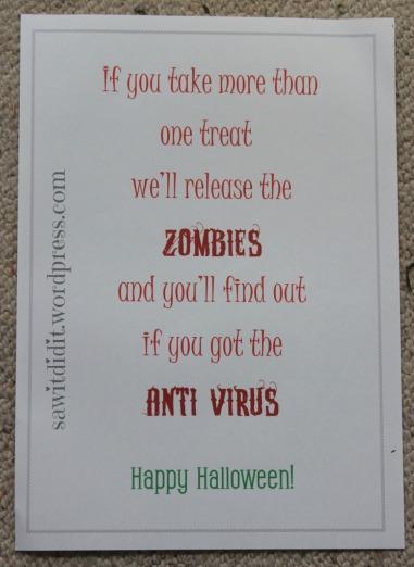 Halloween - if you take more than one treat .... sawitdidit.wordpress.com