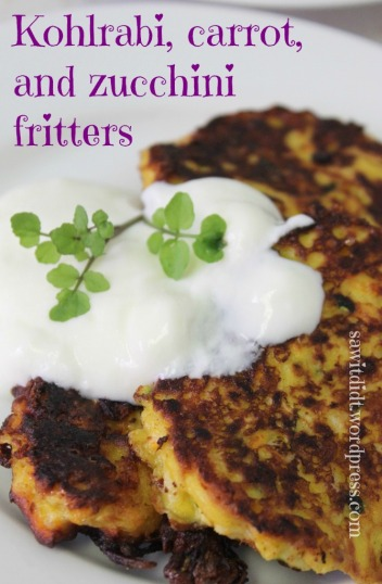 Saw it, Pinned it, Did it! - Kohlrabi carrot and zucchini fritters