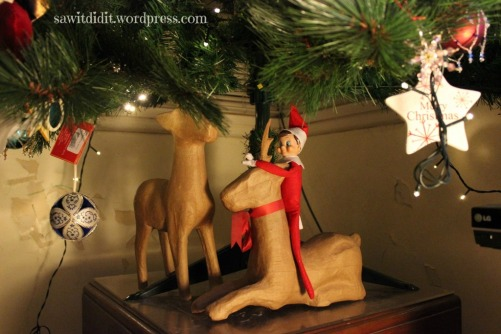 Elf riding reindeer . sawitdidit.wordpress.com