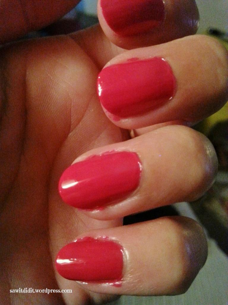 messy nails