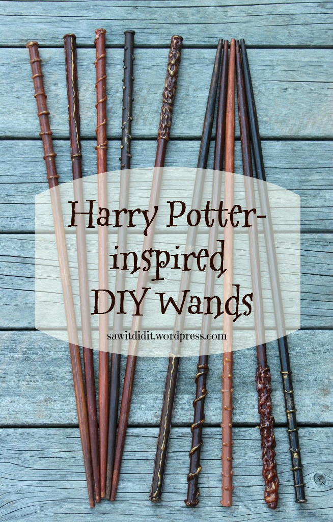 Harry Potter inspired DIY wands