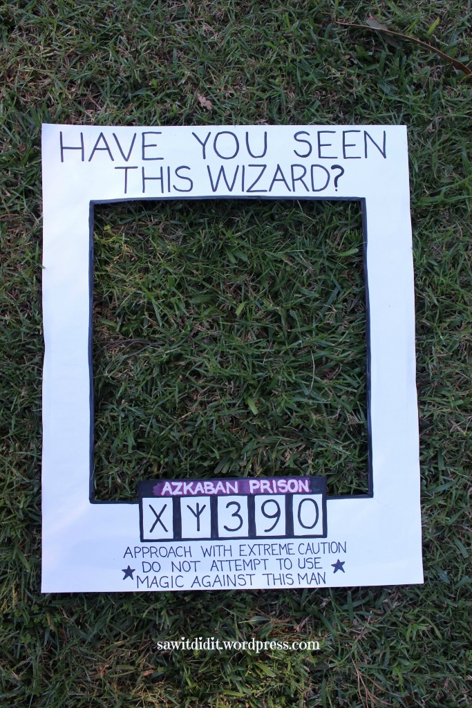 HP Have You Seen this Wizard photo prop