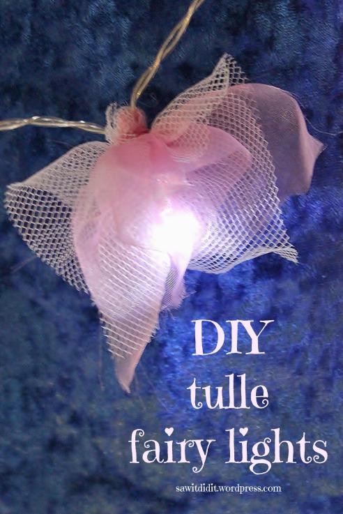 DIY tulle fairy lights.