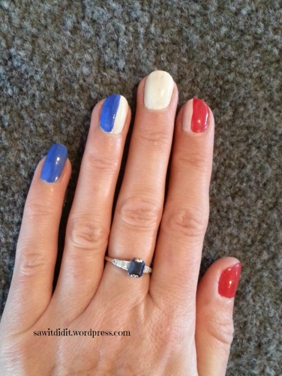 Bastille Day nails .