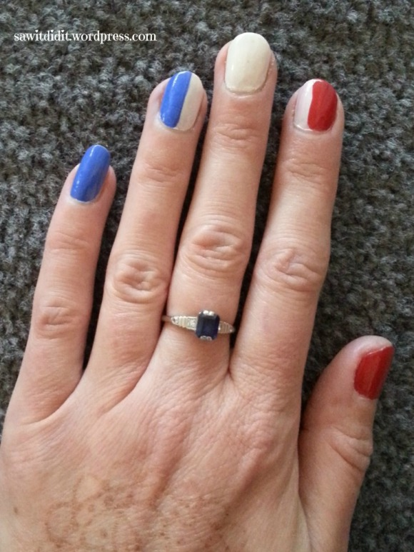 Bastille Day nails..