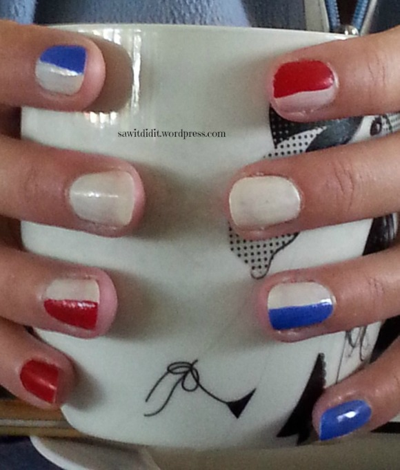 Bastille Day nails