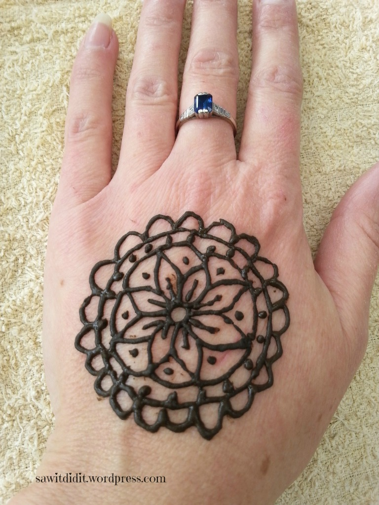 Henna tattoo flower
