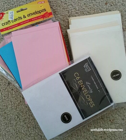 Card making with blank cards