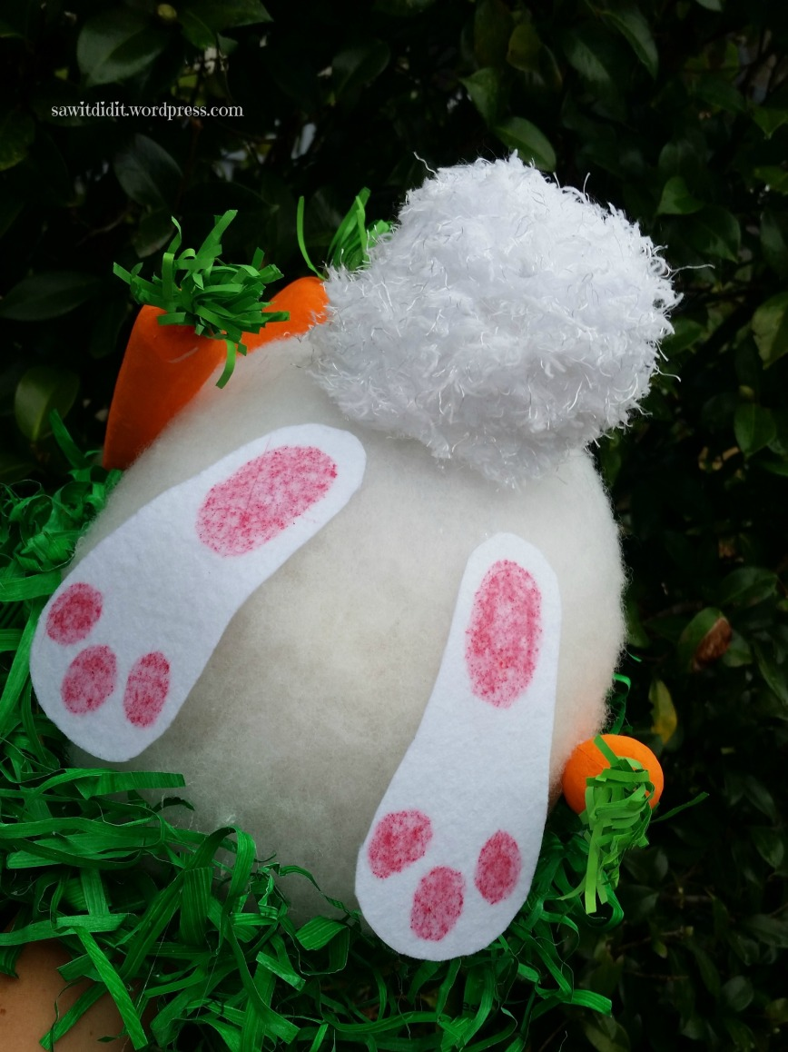 Easter Hat bunny butt..