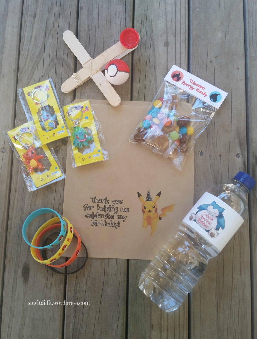 Pokemon party bag