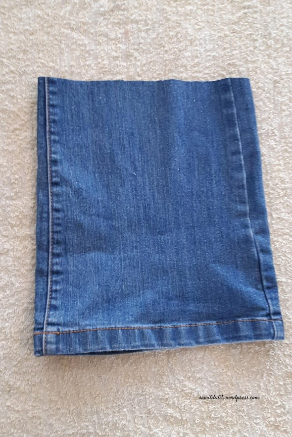 upcycled jean cutoff